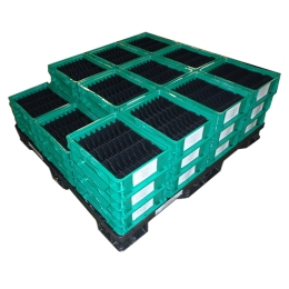 Dividers in Totes with Pallet